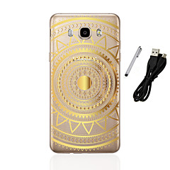 For Samsung Galaxy J1(2016) J3(2016) J5(2016) Translucent Pattern Case Back Cover Case Mandala Soft TPU  J1 J3 J5