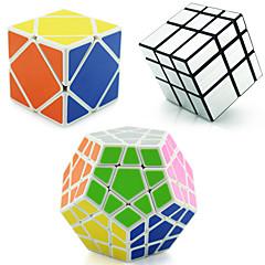 Shengshou® Cube de Vitesse  Alien Megamix skewb Miroir Niveau professionnel Soulage le Stress Cubes magiques Argenté DoréAutocollant