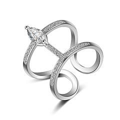 Ringer Krystall Imitasjon Diamant Sexy Overgang Mote Justerbare Bedårende Multi-Måter Klær Bryllup Fest Daglig Avslappet Smykker Sølv Dame