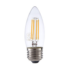 3.5W E26 LED Filament Bulbs B10 4 COB 350 lm Warm White Dimmable 120V 1 pcs