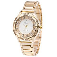Mujer Reloj de Moda Reloj de Pulsera Cuarzo / Acero Inoxidable Banda Cool Casual Elegantes Dorado Dorado