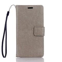 Mert Huawei tok / P9 Lite / P8 Lite Pénztárca / Kártyatartó / Állvánnyal Case Teljes védelem Case Egyszínű Kemény Műbőr HuaweiHuawei P9