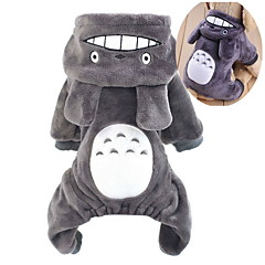 Cat Dog Costume Hoodie Clothes/Jumpsuit Brown Gray Rose Dog Clothes Winter Spring/Fall Cartoon Cute Cosplay