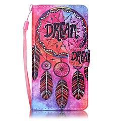 For Sony Xperia XA Case Card Holder Wallet with Stand Pattern Case Full Body Case Dream Catcher Hard PU Leather
