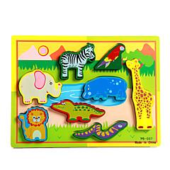 직소 퍼즐 교육용 장난감 / 직쏘 퍼즐 빌딩 블록 DIY 장난감 코끼리 / 황소 / 말 / 도마뱀 / 크로커다일 8 나무 무지개 레져 취미용품