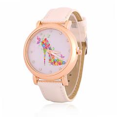 Mulheres Relógio de Moda / Relógio de Pulso Quartz Strass PU Banda Legal / Casual Preta / Branco / Azul / Marrom / Rosa marca