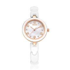 KEZZI Women's Fashion Watch Casual Watch Quartz Japanese Quartz Ceramic Band Casual Elegant White