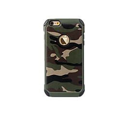 Para Antichoque Capinha Capa Traseira Capinha Côr Camuflagem Rígida PC para AppleiPhone 7 Plus / iPhone 7 / iPhone 6s Plus/6 Plus /