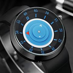 Herre Modeur Armbåndsur Unik Creative Watch Quartz Farverig Silikone Bånd Vintage Sej Afslappet Sort Sort Gul Blå Lys pink Sort/Sølv