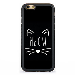 Kompatibilitás iPhone 7 tok iPhone 6 tok iPhone 5 tok tokok Minta Hátlap Case Cica Kemény Alumínium mert Apple iPhone 7 Plus iPhone 7