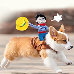 Perros Disfraces Multicolor Ropa para Perro Verano / Primavera/Otoño Caricaturas Adorable / Cosplay / Cowboy