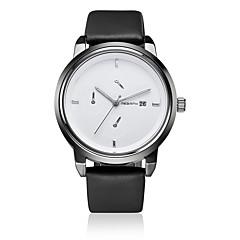 REBIRTH® Unisex Fashion Watch / Wrist watch Quartz Calendar / Water Resistant/Water Proof Leather Band