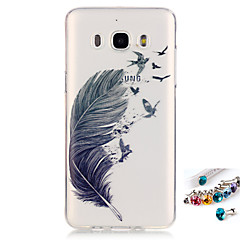 For Samsung Galaxy J7 J5(2016) G530 G360 Cover Case Feathers Pattern Painting IMD Technology Tpu Material Phone Shell And Dust Plug Combination