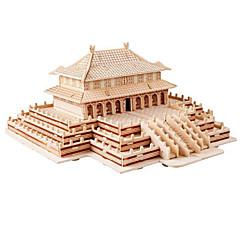 Jigsaw Puzzles Display Model Building Blocks DIY Toys Castle 1 Wood Khaki Model & Building Toy