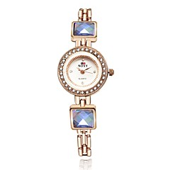 Women's Dress Watch / Fashion Watch / Bracelet Watch Quartz Water Resistant/Water Proof Alloy Band Gold Brand