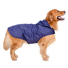Psy Płaszcz przeciwdeszczowy Ubrania dla psów Lato Wiosna/jesień Jendolity kolor Wodoszczelność Větruodolné Dark Blue Czerwony