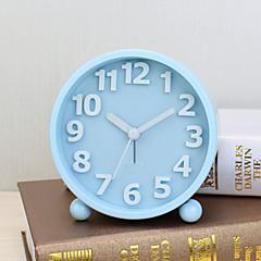 ξυπνητήρι με matel περίπτωση σε μπλε χρώμα σιωπηλή movment φως τη νύχτα