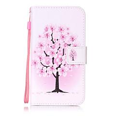 Til lg k10 k8 taske dækning blomstermønster maleri kort stent pu læder til k7 ls770 ls775 v20
