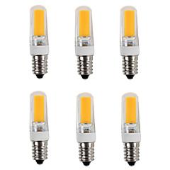 4W E14 LED Bi-Pin lamput T 1 COB 380 lm Lämmin valkoinen / Kylmä valkoinen AC 220-240 V 6 kpl