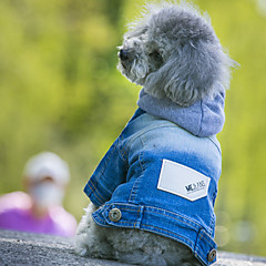 Dog Hoodie Denim Jacket/Jeans Jacket Dog Clothes Winter Spring/Fall Jeans Cowboy Fashion Blue