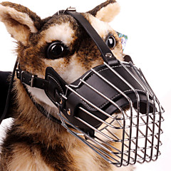 Muzzle Safety Training Solid Genuine Leather Stainless Steel