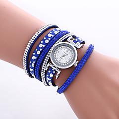 Damen Modeuhr / Armbanduhr / Armband-Uhr Quartz Mehrfarbig PU Band Vintage / Böhmische / Armreif / Cool / BequemSchwarz / Weiß / Blau /