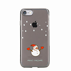 For Transparent / Mønster Etui Bagcover Etui Jul Blødt TPU for AppleiPhone 7 Plus / iPhone 7 / iPhone 6s Plus/6 Plus / iPhone 6s/6 /