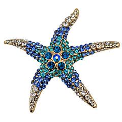 kadın moda alaşım / yapay elmas broş şık pin parti / günlük / gündelik denizyıldızı şekil takı aksesuar 1pc