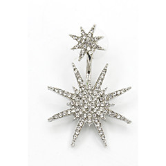 Kolczyki na sztyft Modny Wszechświat Cyrkonia Kryształ górski Star Shape Gold Silver Biżuteria Na Ślub Impreza Urodziny Codzienny Casual