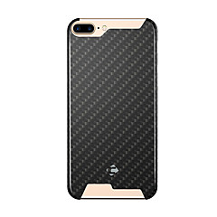 For Stødsikker Etui Bagcover Etui Geometrisk mønster Hårdt Kulstoffiber for AppleiPhone 7 Plus / iPhone 7 / iPhone 6s Plus/6 Plus /