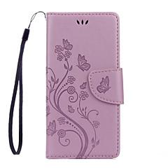 Til xiaomi redmi 3 pro pu læder materiale dielianhua mønster præget solid farvet telefon sag