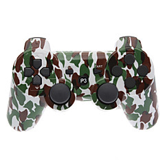 Brown and Green Camouflage Dual-Shock Bluetooth V4.0 Wireless Controller dla PS3