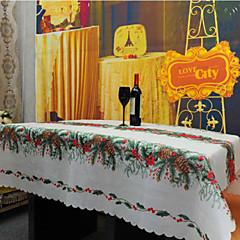 Kvadrat Mønstret Broderet Duge , Hør / Bomulds Blanding Materiale Juledekoration, gaver til gæsterne 1