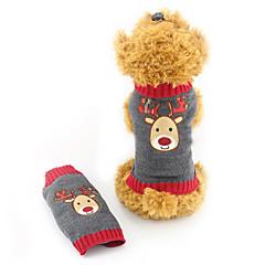 Gatos / Perros Suéteres Gris Ropa para Perro Invierno Reno Adorable / Navidad