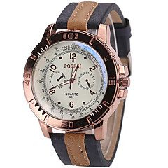 Men's Wrist Quartz Personality Simple Cool Unqiue Watch Big Round Alloy Dial Originality Casual Fashion Sport Watch
