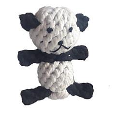 고양이 장난감 강아지 장난감 반려동물 장난감 씹는 장난감 치석제거 장난감 Rope 팬더 털실 직물