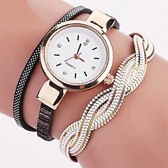 Dames Modieus horloge Polshorloge Armbandhorloge Kwarts Kleurrijk PU BandVintage Gestipt Bohémien Bedeltjes Bangle armband Cool