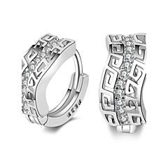 Women's S925 Silver Earring Crystal Stud Earrings / Hoop Earrings Jewelry (1.5*7mm)