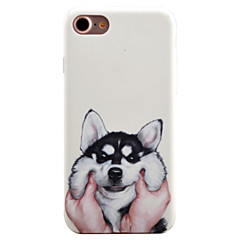 For iPhone 7 7 Plus 6S 6 Plus Case Cover Lovely Dog Pattern Oil Color Relief Luminous PC Material All-inclusive Phone Case