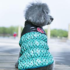 Σκυλιά Παλτά Veste Ρούχα για σκύλους Διπλής Όψης Διατηρείτε Ζεστό Πουά Κίτρινο Κόκκινο Πράσινο