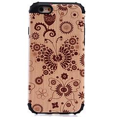 For iPhone 7 etui iPhone 6 etui iPhone 5 etui Stødsikker Mønster Etui Bagcover Etui Imiteret træ Hårdt PC for AppleiPhone 7 Plus iPhone 7