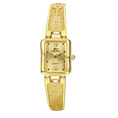 Women's Dress Watch Fashion Watch Casual Watch Quartz Water Resistant / Water Proof Alloy Band Casual Gold