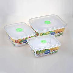 apilable envase de alimento rectangular fijado con tapas