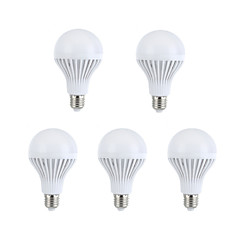 9W E26/E27 LED Globe Bulbs A60(A19) 15 SMD 5630 330-360 lm Warm White / Natural White Decorative AC 220-240 V 5 pcs
