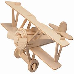 Puzzles Holzpuzzle Bausteine DIY Spielzeug Flugzeug / Haus 1 Holz Elfenbein Model & Building Toy