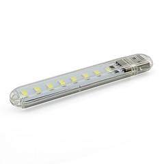מיני הוביל אור בלילה USB אלחוטית קל נושאת לקריאה / מחנאות / מנורת שולחן DC 5V הלבן מגניב (1 חתיכה)