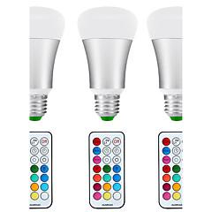 10W E26/E27 Lâmpada Redonda LED A80 1 COB 1200 lm Branco Natural / RGB Regulável / Controle Remoto / Sensor / Decorativa / Impermeável V3