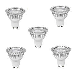 DUXLITE® 5PCS Dimmable GU10 10W(=Halogen 90W) CRI>80 1xCOB 900LM 3000K Warm White LED Spot Bulb (AC 220-240V)