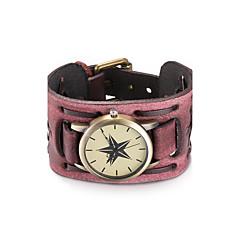 Dámské Unisex Módní hodinky Náramkové hodinky Křemenný Voděodolné Kůže Kapela Retro Cikánské Náramek Černá Červená Černá Tmavě červená