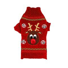 Katte Hunde Bluser Hundetøj Vinter Rensdyr Jul Nytår Sort Rød